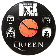 "Виниловые часы ""Queen: We will rock you"""