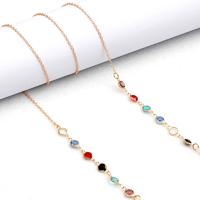 Цепочка для очков с разноцветными кристаллами