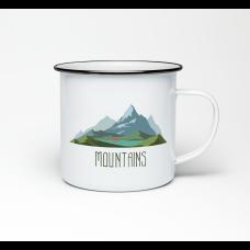 """Эмалированная кружка """"Mountains"""""""