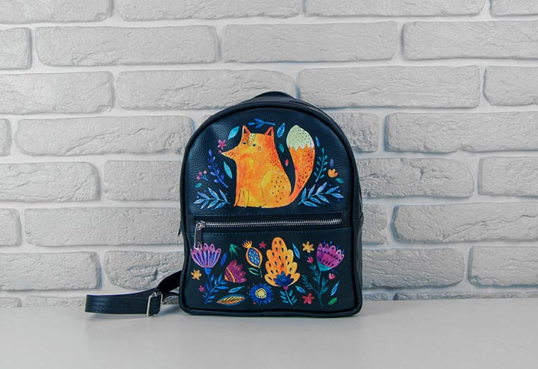Рюкзак для города с лисичкой
