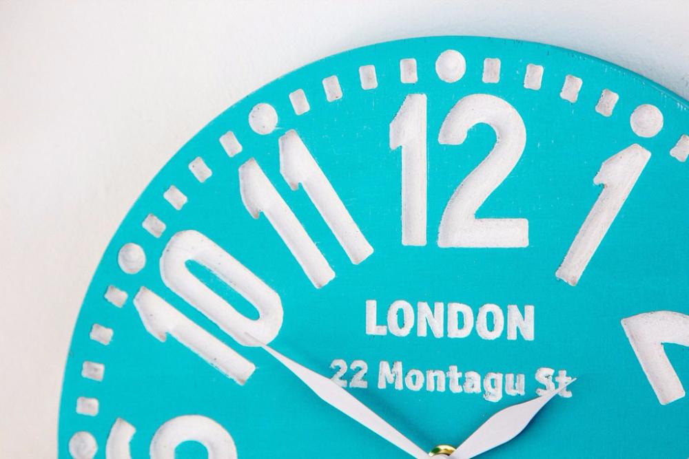 """Настенные часы """"Лондон"""", бирюза"""