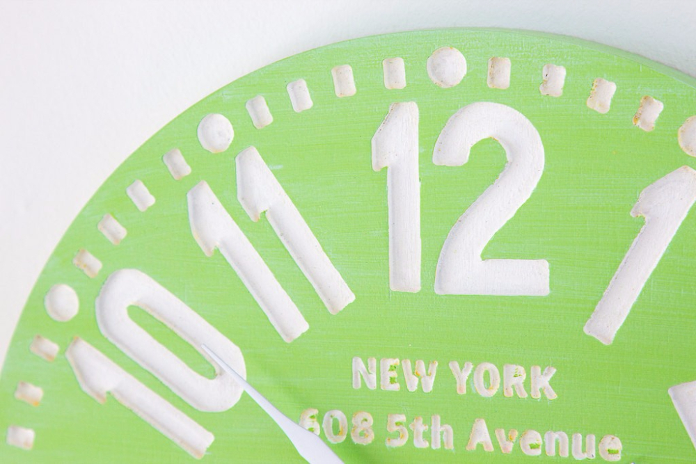 """Настенные часы """"Нью-Йорк"""", зелёный"""