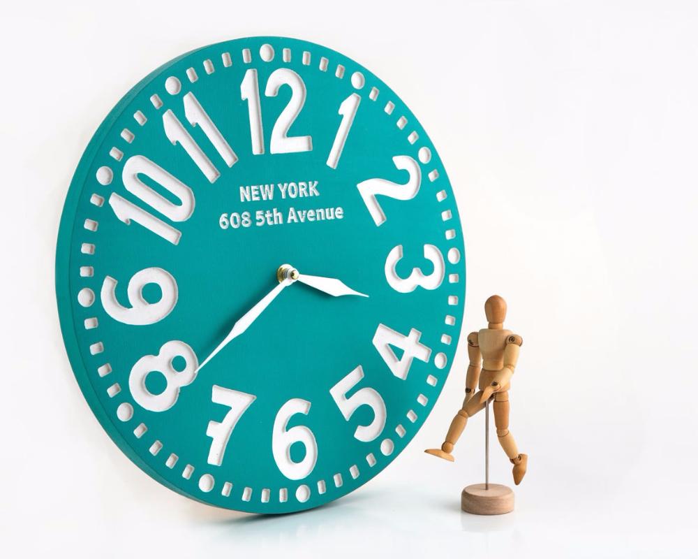 """Настенные часы """"Нью-Йорк"""", бирюза"""