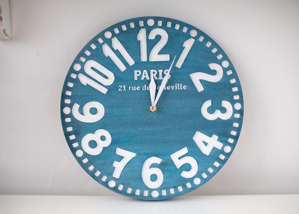 """Настенные часы """"Париж"""", синий"""