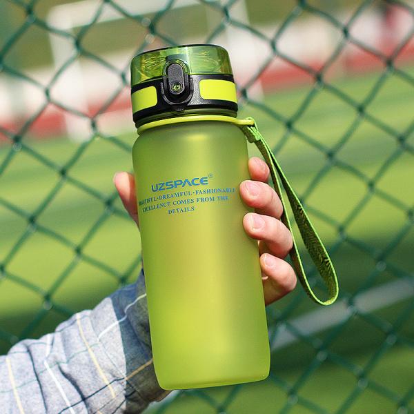 Спортивная бутылка Uzspace, 650 мл, зеленый