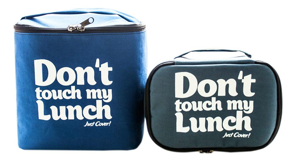 "Термо сумочка для ланча ""Don`t touch"" (синяя)"