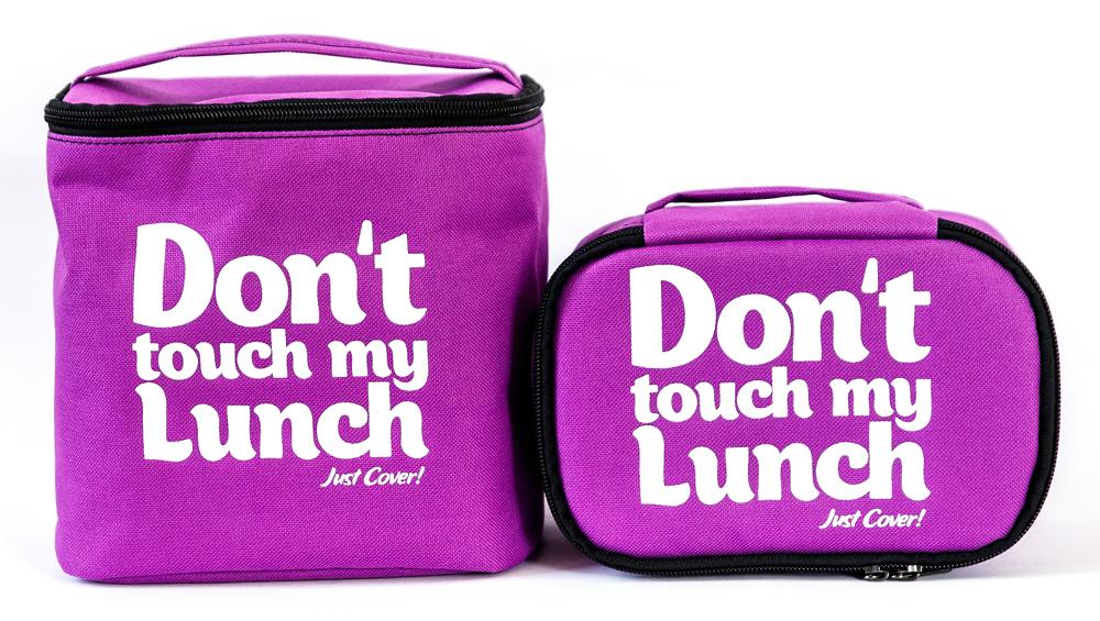 """Термо сумочка для ланча """"Don`t touch"""" мини (сиреневая)"""