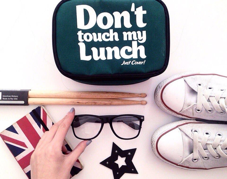"Термо сумочка для ланча ""Don`t touch"" мини (зелёная)"