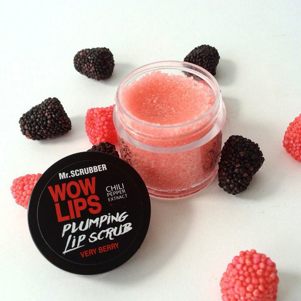 Сахарный скраб для губ WOW LIPS Ice Berry - ягода