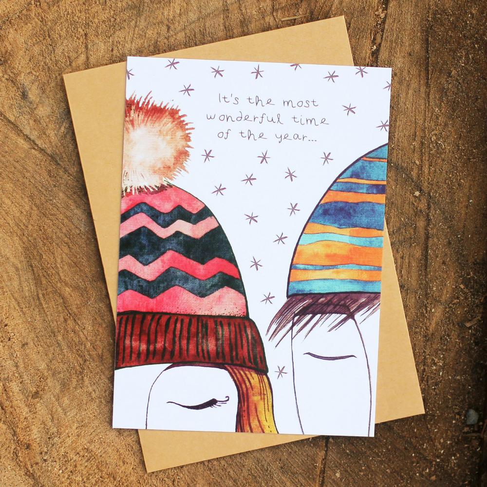 Романтичная открытка на Новый год, подарок девушке на Новый год