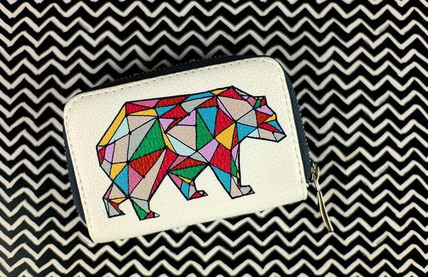 "Кошелек мини ""Bear"", эко-кожа"