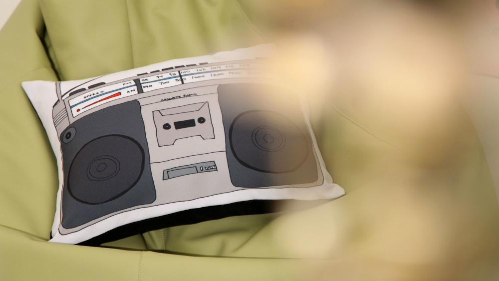 "Подушка ""Старый магнитофон"""