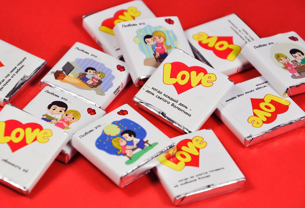 Шоколадки Love is