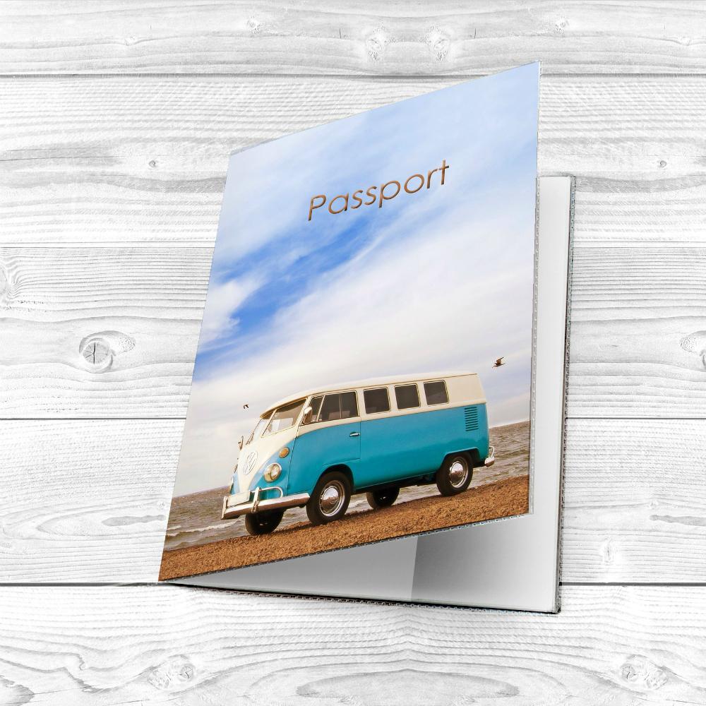 Обложка на паспорт с автомобилем